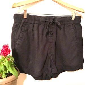 REITMANS Linen Shorts navy blue size 12